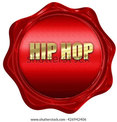 hip hop music, 3D rendering, a red wax seal - stock photo