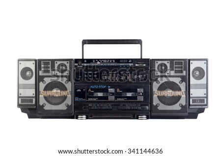 Hip hop surround sound radio isolated on white background