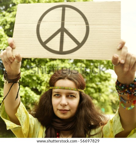Hippie - stock photo