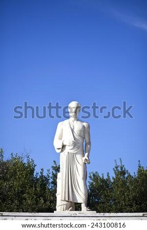 Hippocrates Statue - stock photo