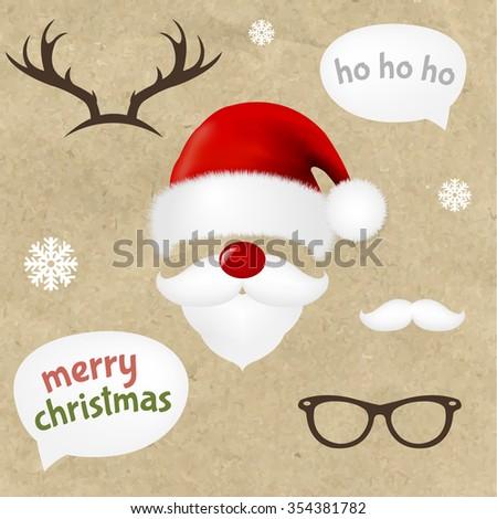 Hipster Christmas Set  - stock photo
