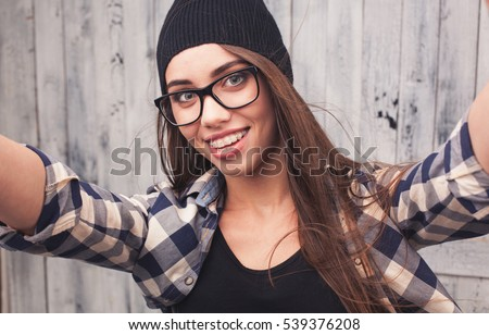 Sorry, Girl with beanie and glasses porn tempting