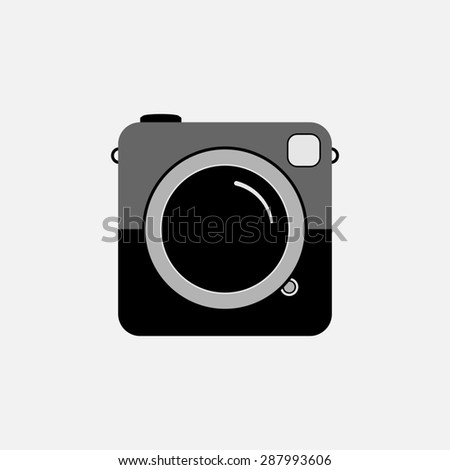 Hipster photo or camera icon. - stock photo