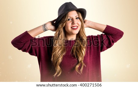Hipster young girl