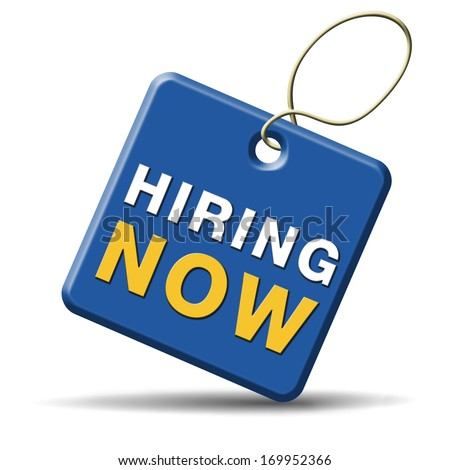 hiring now job opening search or jobs vacancy help wanted - stock photo