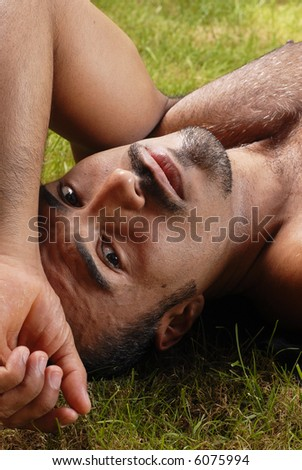 Hispanic Male - Head shot - stock photo