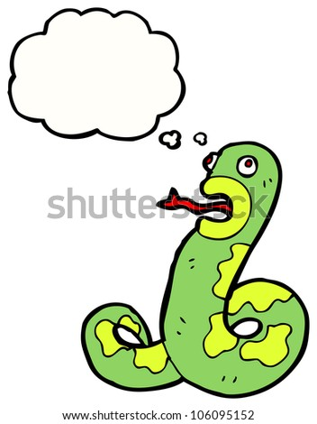 hissing snake cartoon