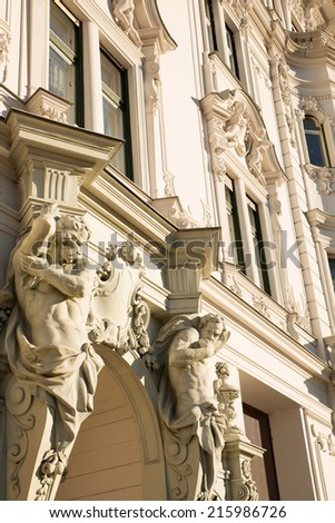 Historic Architecture in Budapest, Hungary, Europe. - stock photo