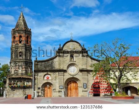 Historic Barsoain Church, Malolos City, Philippines - stock photo