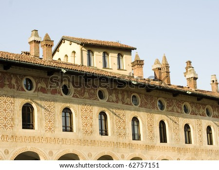 Historic Building in ducale square, Vigevano