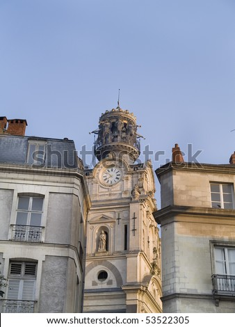 Historic building of Nantes, cultural and artistic city of France.