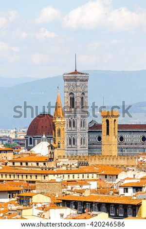 Historic Centre of Florence, Italy.  UNESCO World Heriage.