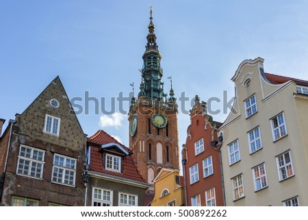 Historic City Hall and tenements in Gdansk