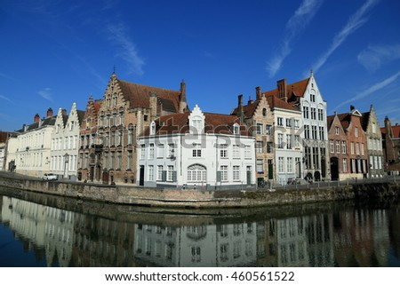 Historic City of Bruges, Belgium.  World Heritage Site of UNESCO.