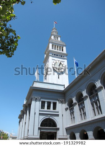 Historic Ferry Building in San Francisco, California - stock photo