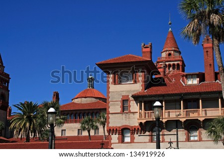 Historic Flagler College located in St. Augustine Florida - stock photo