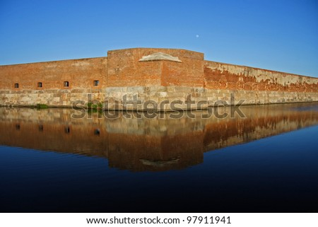 Historic Fort Taylor in the Florida Keys - stock photo