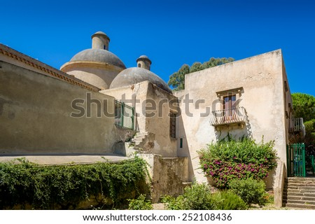 Historic fortification museum at Lipari island. Spain. - stock photo