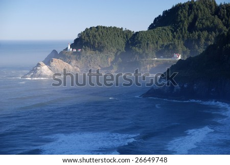 Historic Heceta Head Lighthouse and keepers house Oregon