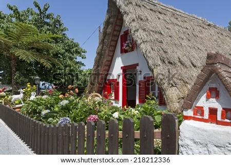 Historic house on Madeira island, Portugal - stock photo