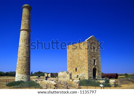 Historic Hughes Copper Mine - stock photo