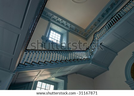 Historic Independence Hall in Philadelphia Pennsylvania, home of the July 4 1776 signature of the United States Declaration of Independence - stock photo