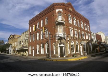 Historic Lewisburg, WV along US Route 60 - stock photo