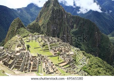 Historic Lost City of Machu Picchu - Peru - stock photo