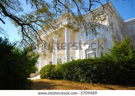 Historic Mansion in Charleston, SC. - stock photo