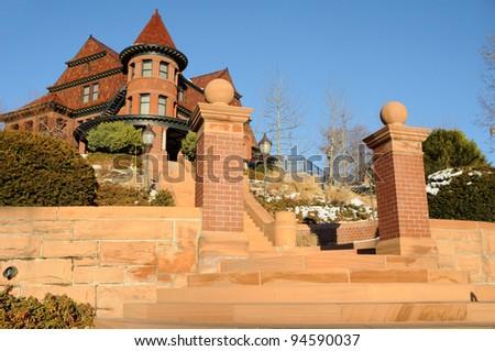 Historic McCune Mansion in Salt Lake City, Utah - stock photo
