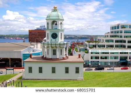 Historic Old Town Clock in Halifax, Canada - stock photo