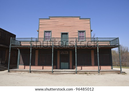 Historic Paramount Ranch movie set, owned by US National Park Service. - stock photo