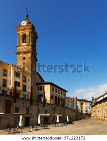 historic part of  Vitoria-Gasteiz.  Basque Country, Spain - stock photo