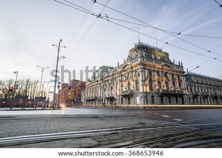 Historic Poznanski Palace, Lodz, Poland - stock photo