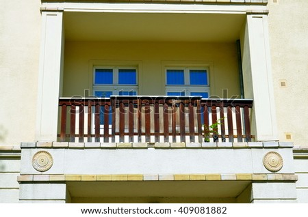 Historic Residential House facade in Berlin, Germany - stock photo