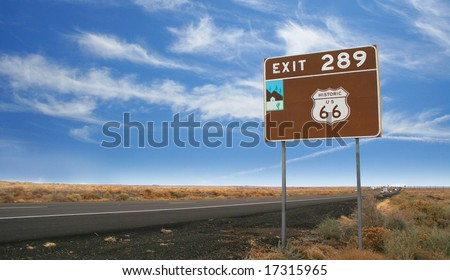 Historic Route 66 portion from Gallup, New Mexico to Flagstaff, Arizona.