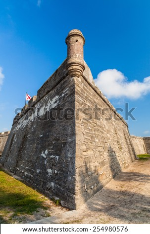Historic Saint Augustine Fort in Florida. - stock photo