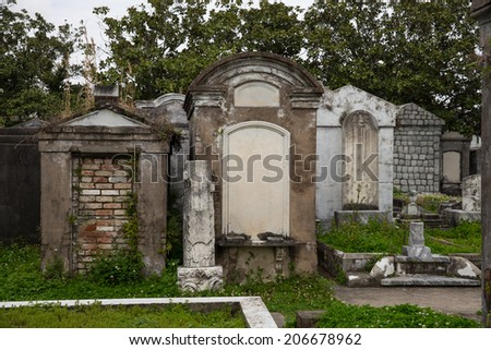 Historic Saint Louis Cemetery in New Orleans. - stock photo