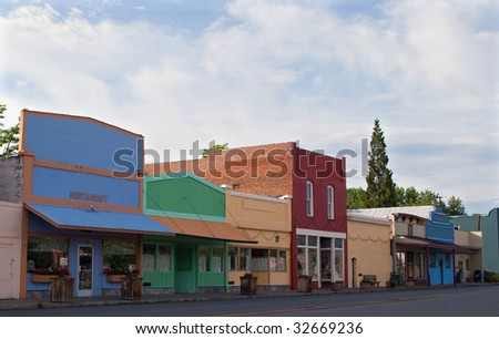 Historic small town - stock photo