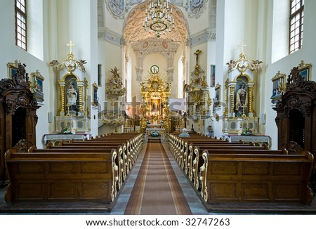 Historic St. Anna's church in Koden, Poland - stock photo
