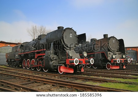 historic steam train - stock photo