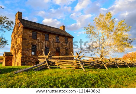 Historic Stone House at Manassas National Battlefield Park - stock photo