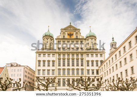 Historic town hall of Augsburg (Germany, Bavaria) - stock photo