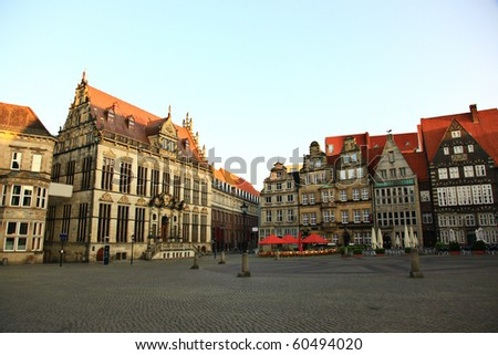 Historic town square in Bremen, Germany - stock photo