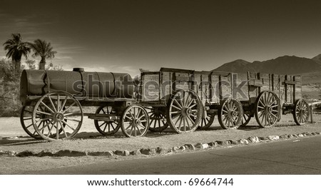 Historic train in death valley