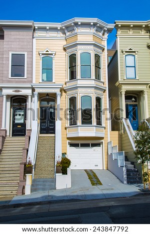 San Francisco Row Houses Stock Photos Images Pictures