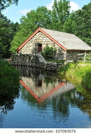 Historic Wayside Inn Grist Mill in Sudbury, Massachusetts
