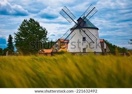 historic windmill - stock photo