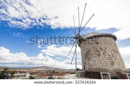 Historic windmills of Alacati  - stock photo