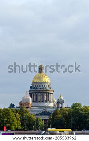 Historical buildings and streets in St. Petersburg, Russia